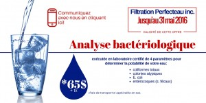 Filtration Perfecteau inc. - analyse d'eau - promotion